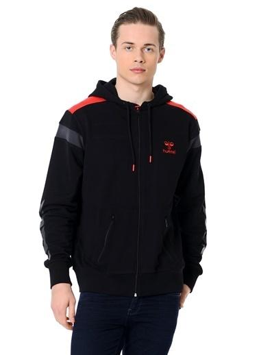 Hummel Fermuarlı Kapüşonlu Sweatshirt Siyah